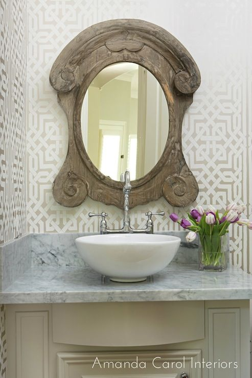 Amanda Carol Interiors Emerald Green Gold Mirrors: Decorating With: Mansard Mirrors