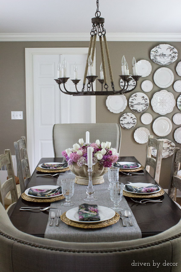 Dining-room-decorated-for-spring-dinner-party