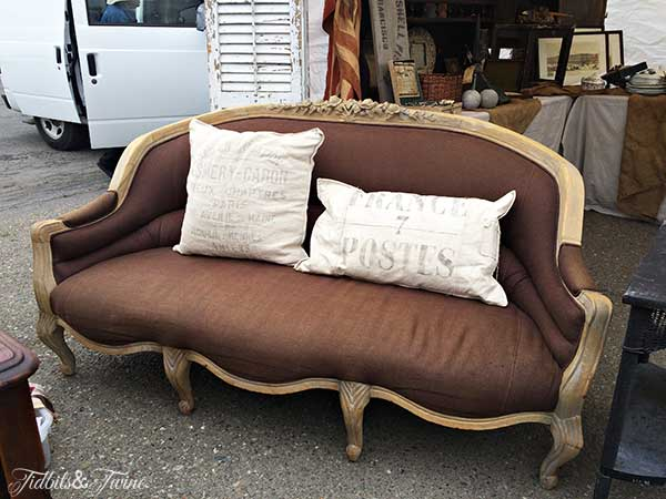 TIDBITS&TWINE-Vintage-Brown-Settee