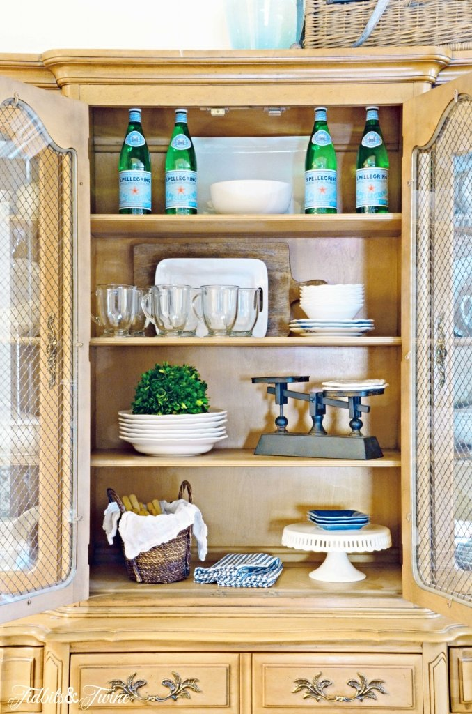 The new french dining hutch tidbits twine for Hutch decor