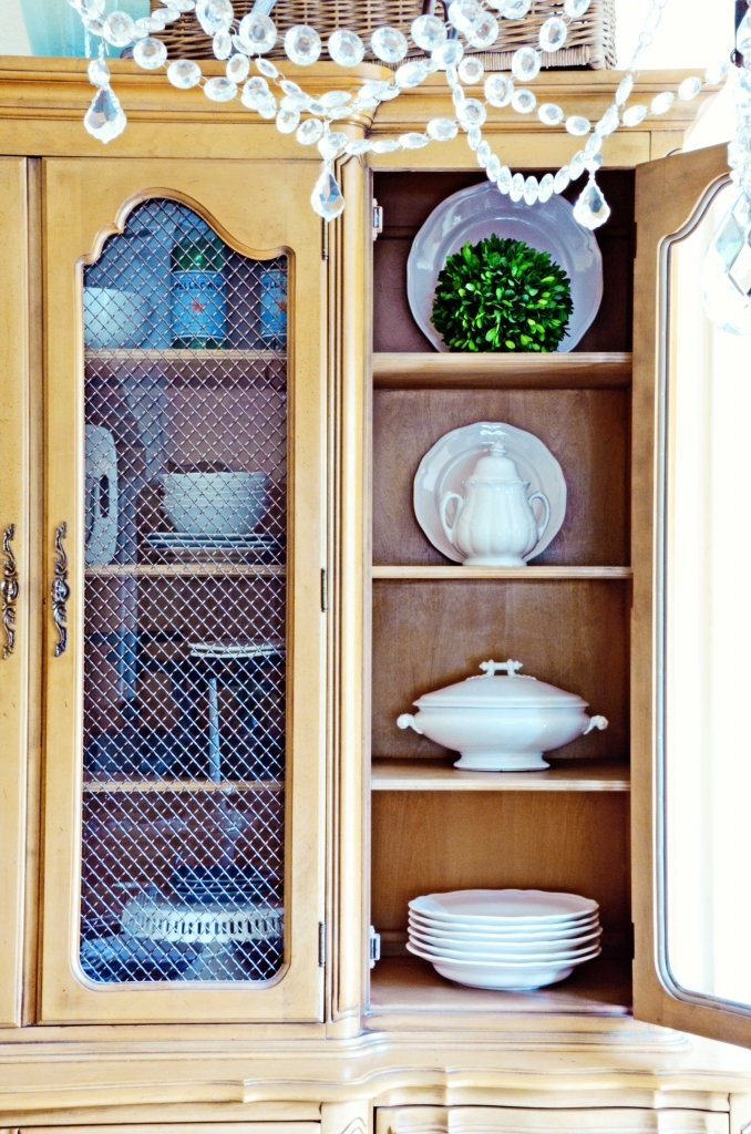 TIDBITS-&-TWINE---Dining-Hutch-Ironstone-Display-2