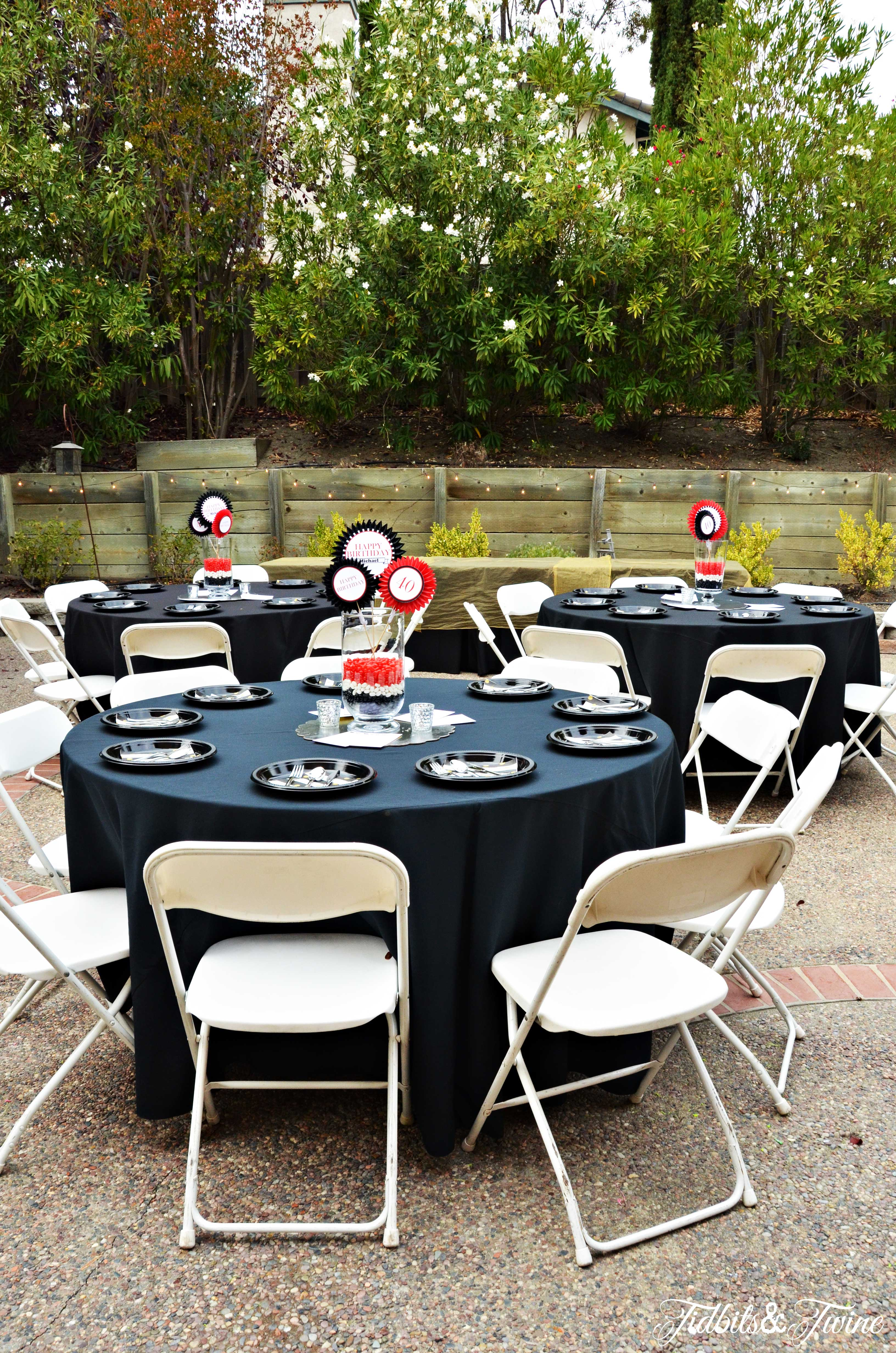 TIDBITSTWINE 40TH Birthday Tables