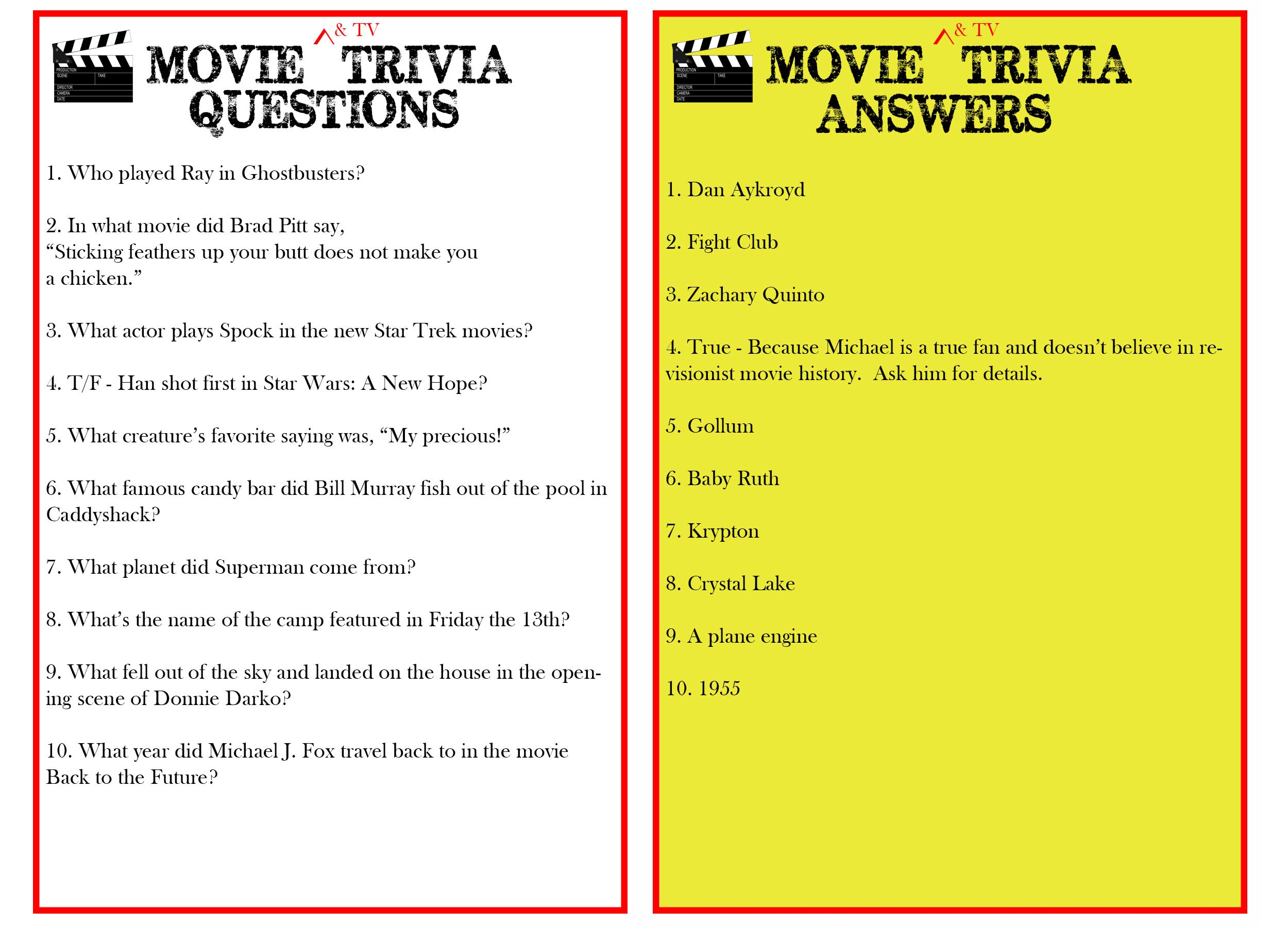 Easy Movie trivia Questions And answers Pdf world cup Schedule