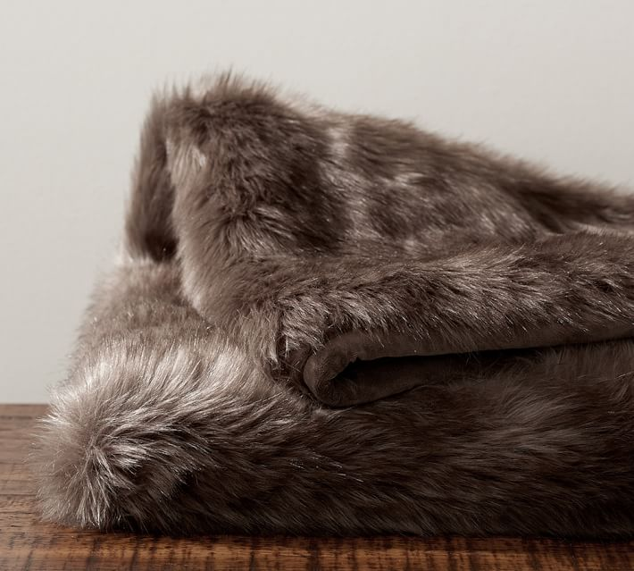 Faxu Fur Throw from Pottery Barn
