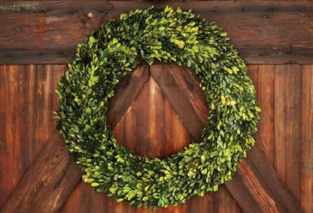 Large Boxwood Wreath Antique Farmhouse