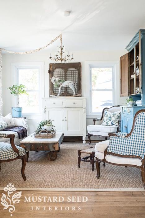 Design idea 1 chair 2 fabrics tidbits twine - Mustard seed interiors ...