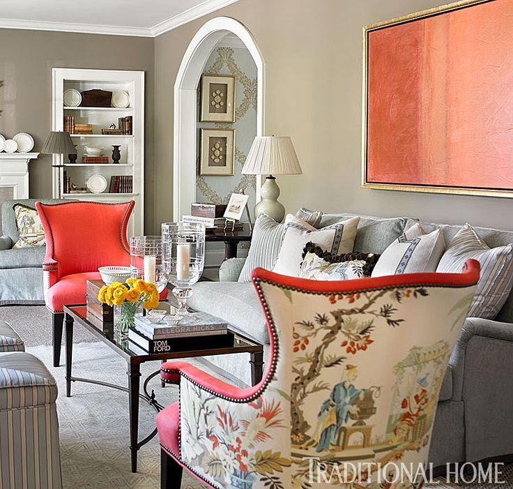 Chaises En Tissus Design: Design Idea: 1 Chair + 2 Fabrics