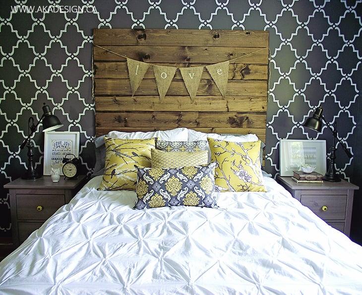 Wood Plank Headboard via AKA Design