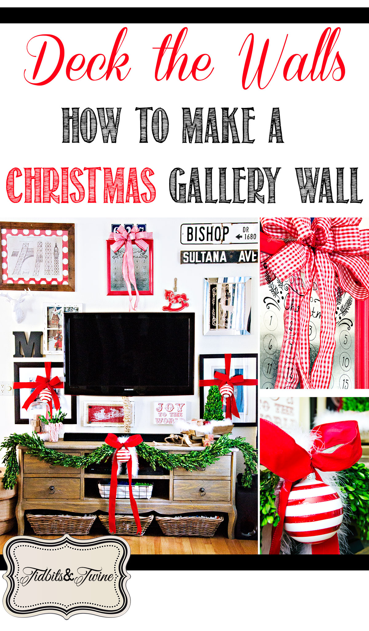 TIDBITS-&-TWINE How to Create a Christmas Gallery Wall
