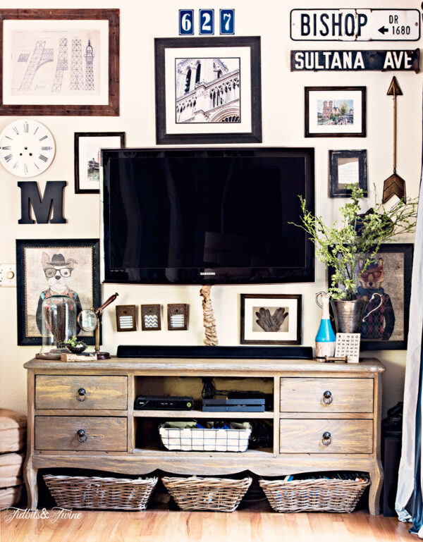 How to hide a TV with a DIY gallery wall