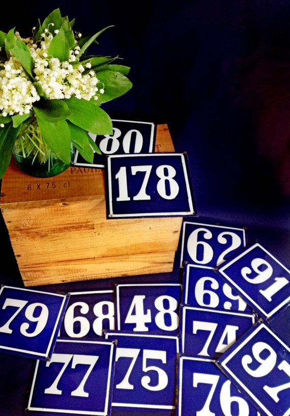Vintage House Numbers from LaBelleRuche