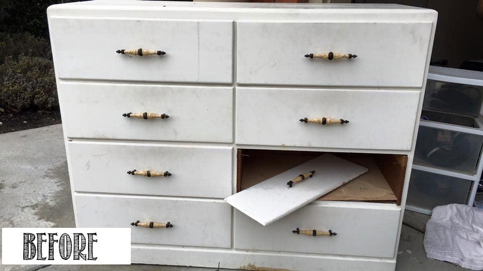 Old-White-Dresser