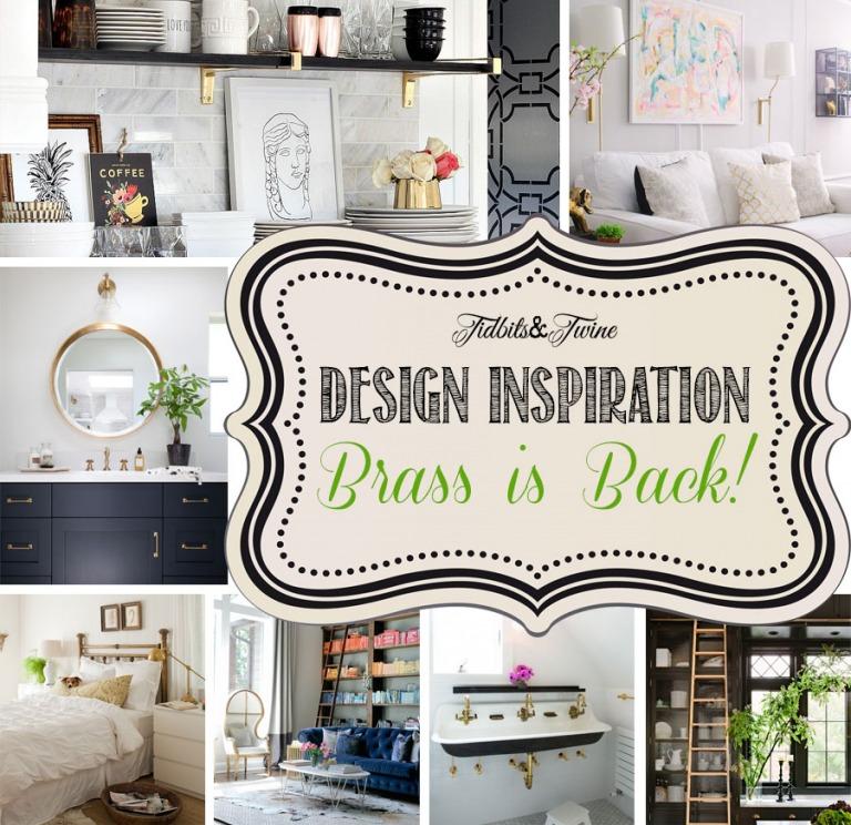 Design Inspiration:  Brass is Back!