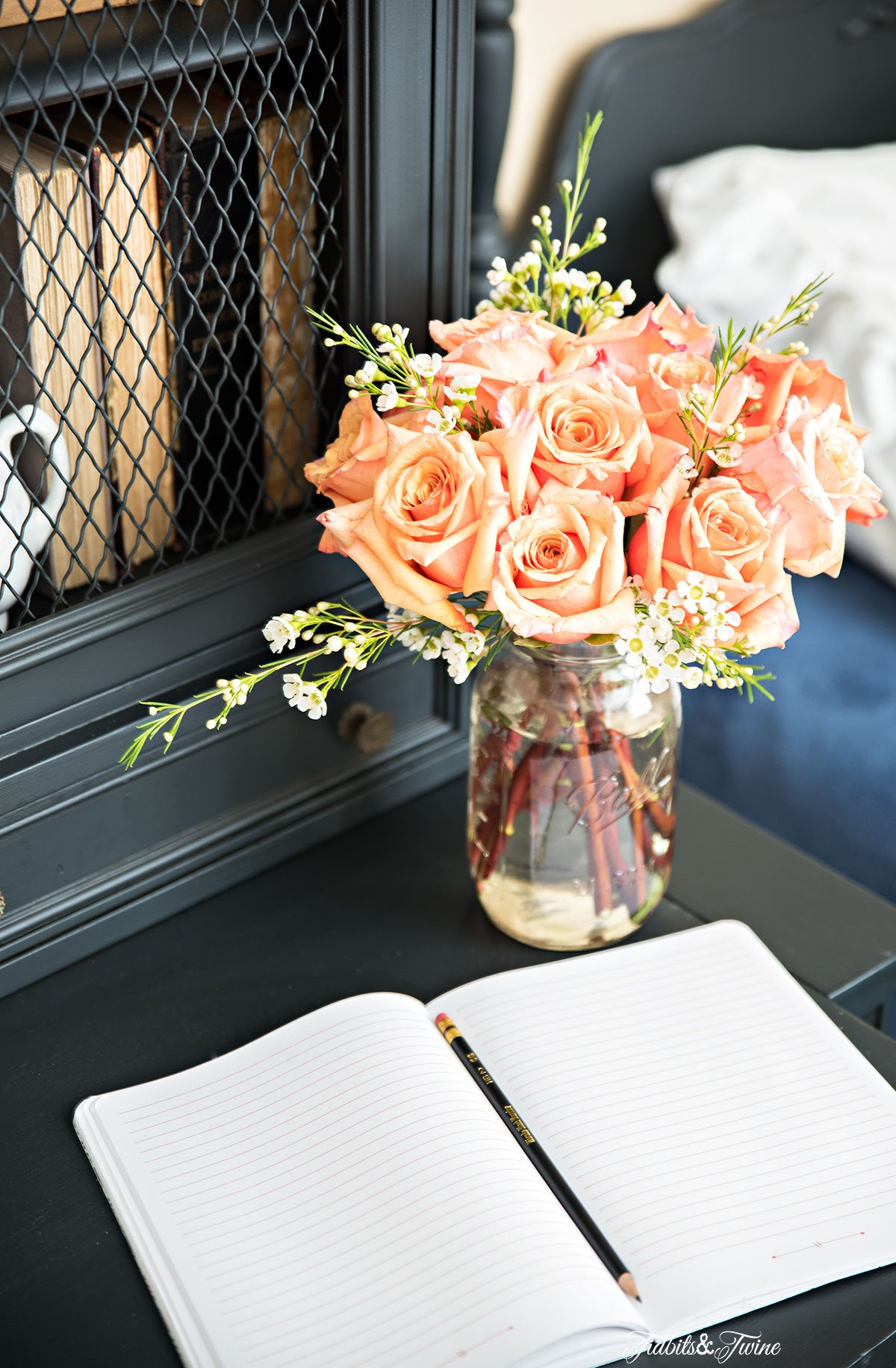 Tidbits&Twine Guest Bedroom French Secretary Desk
