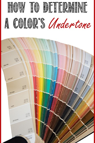 Choosing Color: How to Identify the Undertone