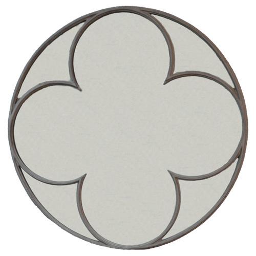 Connell-Round-Quatrefoil-Mirror