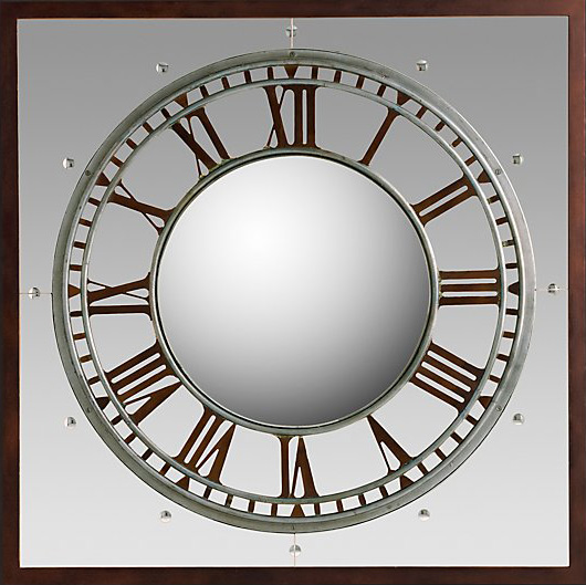 RH Convex Clock Mirror