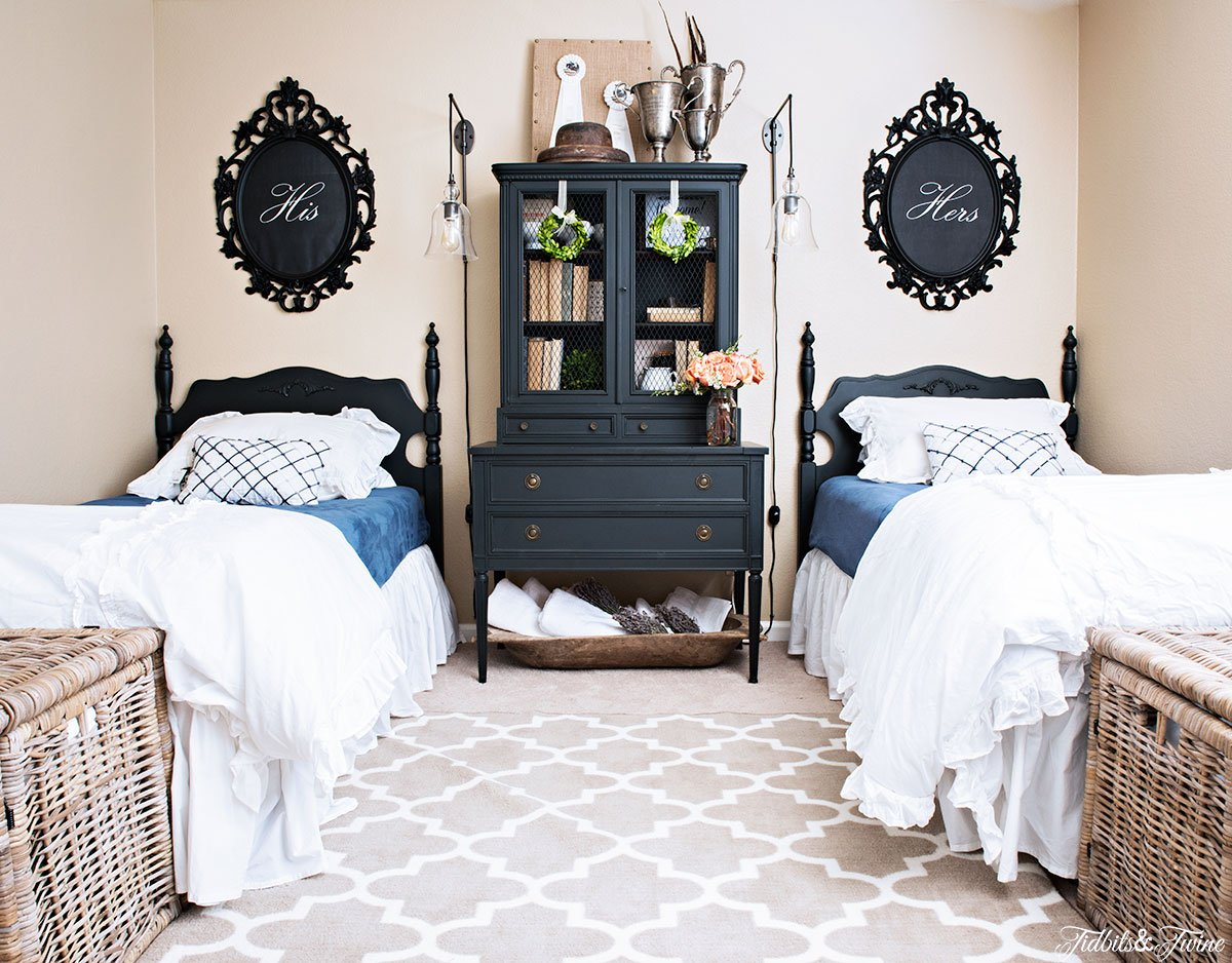 TIDBITS-&-TWINE-Guest-Bedroom-Makeover-French-Twin-Beds