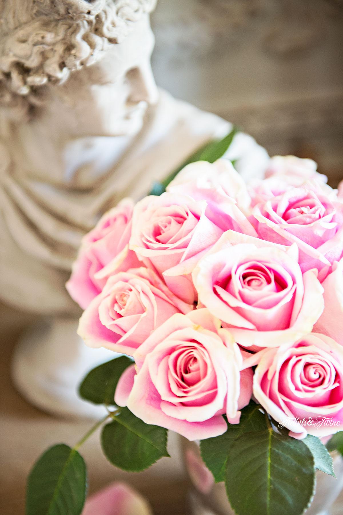 TIDBITS&TWINE-Master-Bedroom-Nightstand-Roses-&-Statue