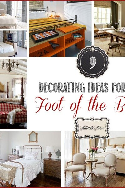 9 Decorating Ideas for the Foot of the Bed
