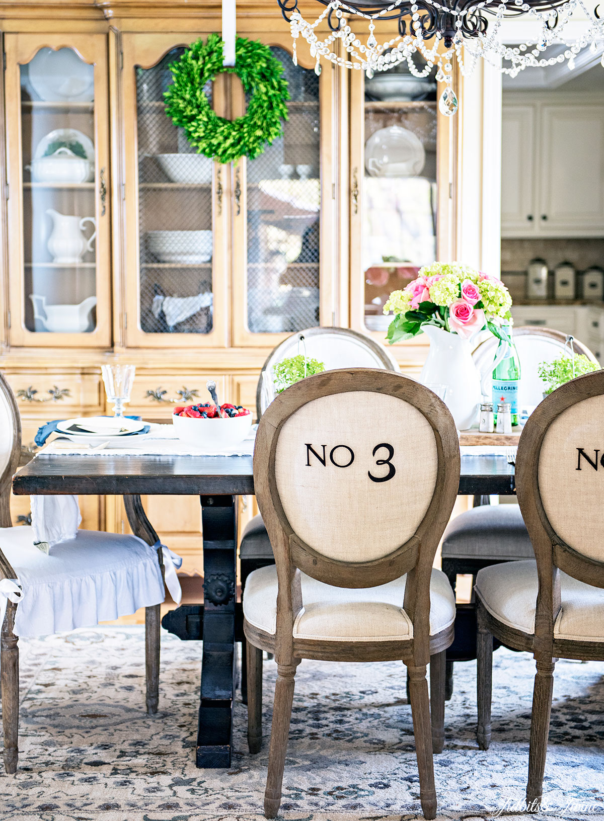 Spring French style dining room