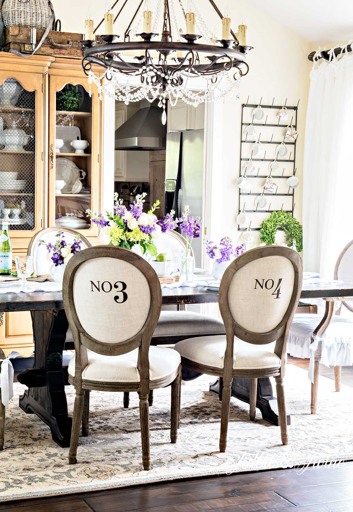 French Spring french dining Room from Tidbits&Twine