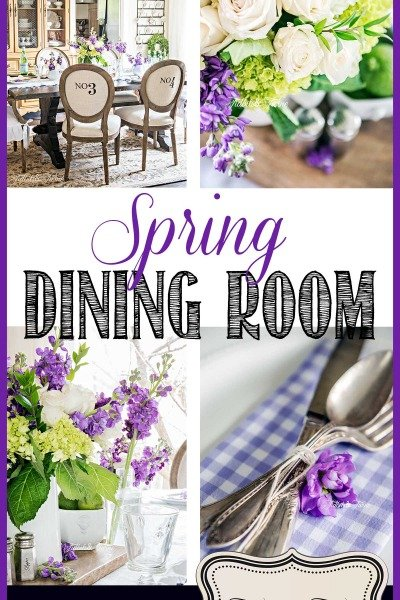 A Simple Spring Dining Table
