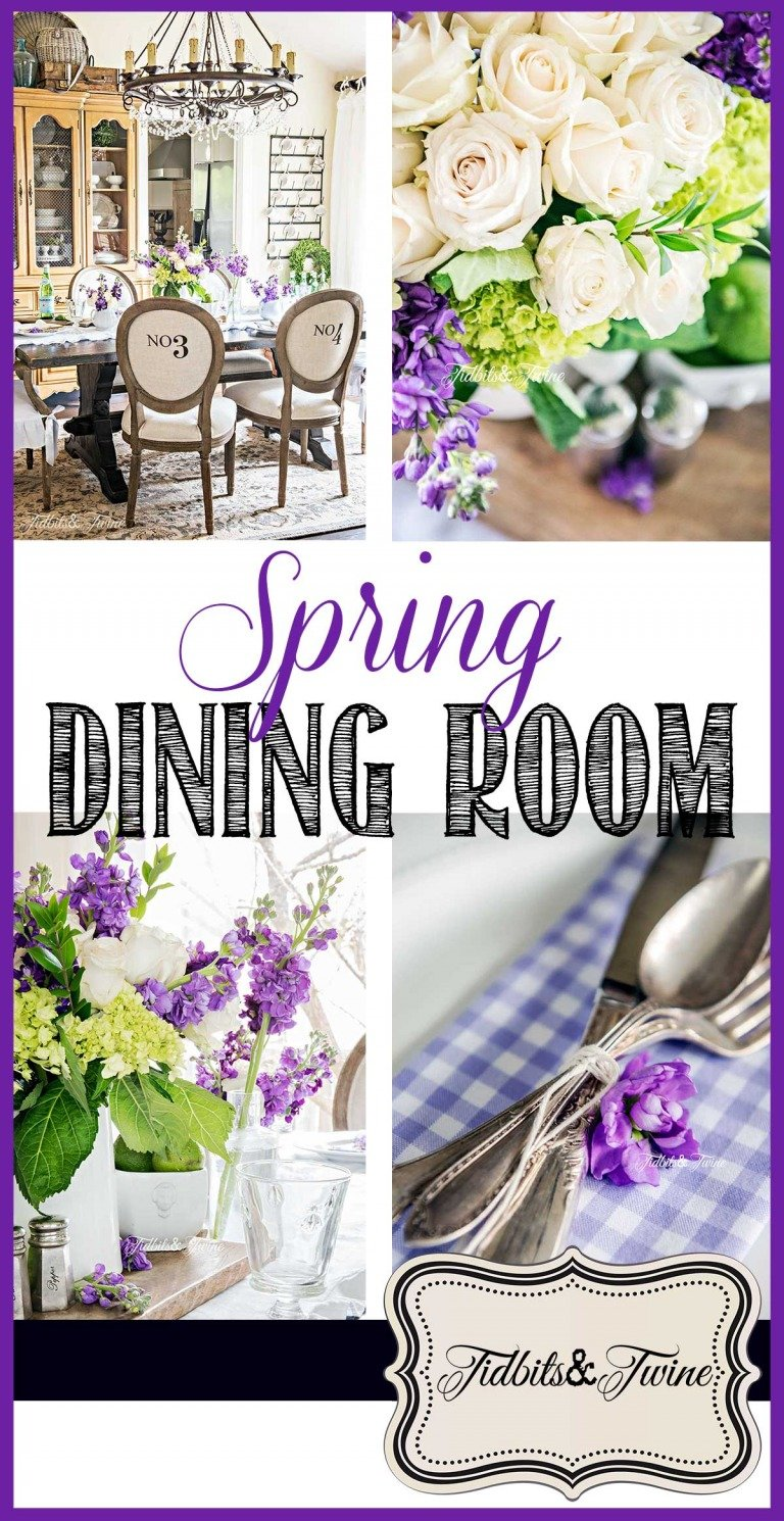 A Simple Spring Idea for My French Dining Room