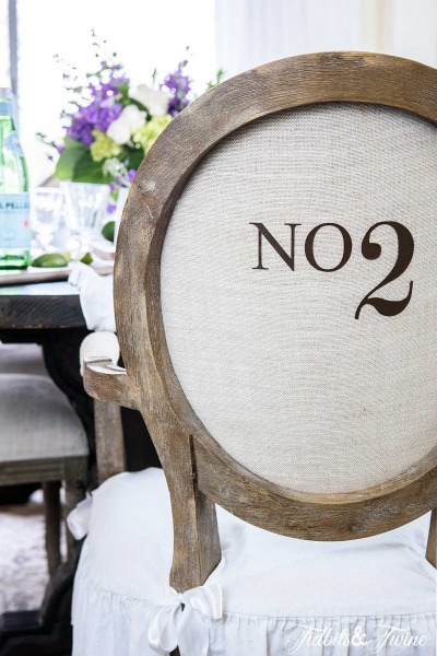 Numbered Dining Chairs – Take Two!