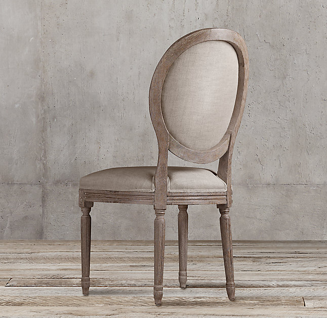 Restoration Hardware Vintage French Round Side Chair