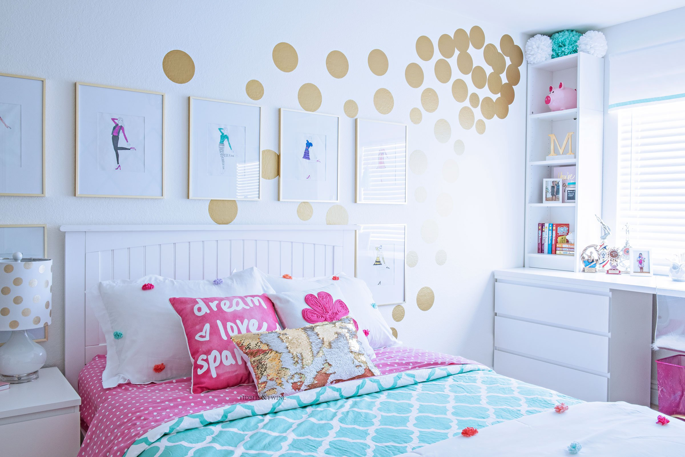 Room Makeover And A Box Bed: Tween Girl's Bedroom Makeover
