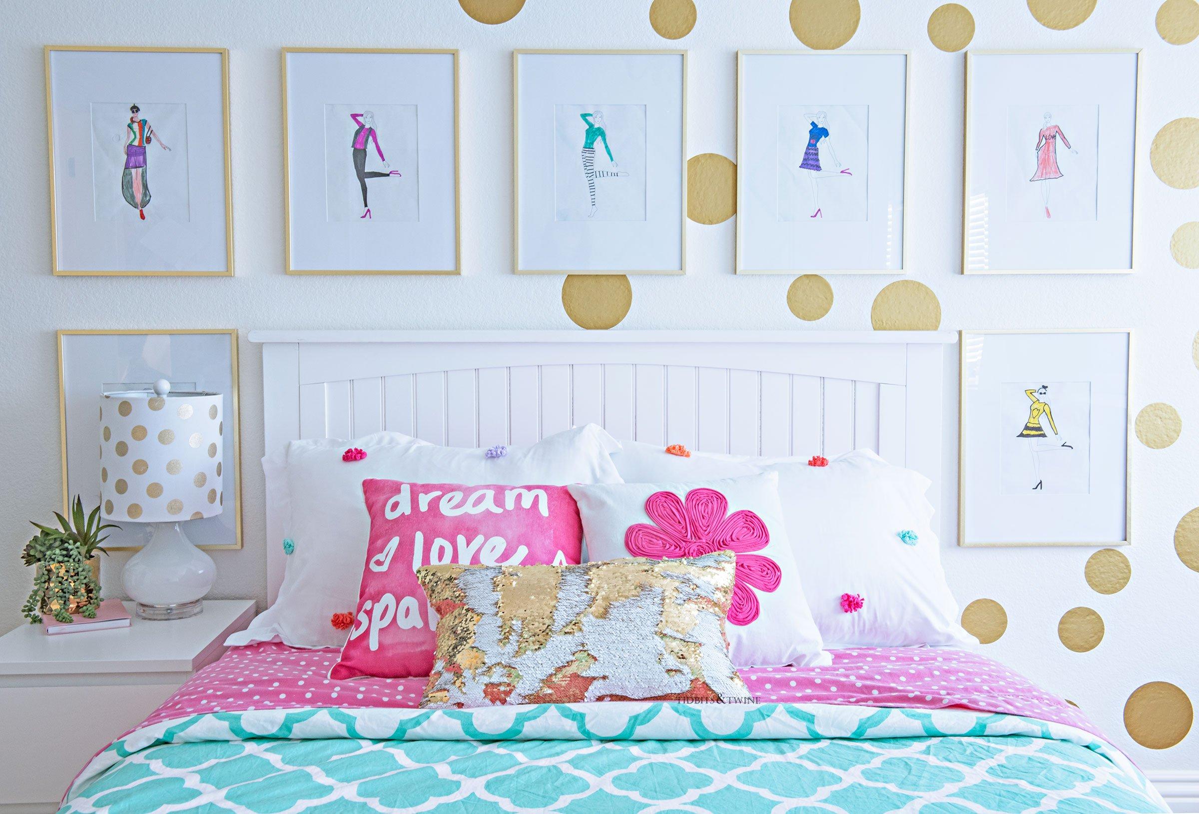 Teen Tween Girls Bedroom Makeover Idea On A Budget Tidbits Twine