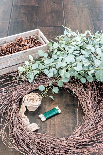Simple Eucalyptus DIY Fall Wreath