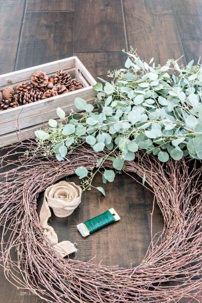 Simple Eucalyptus DIY Fall Wreath