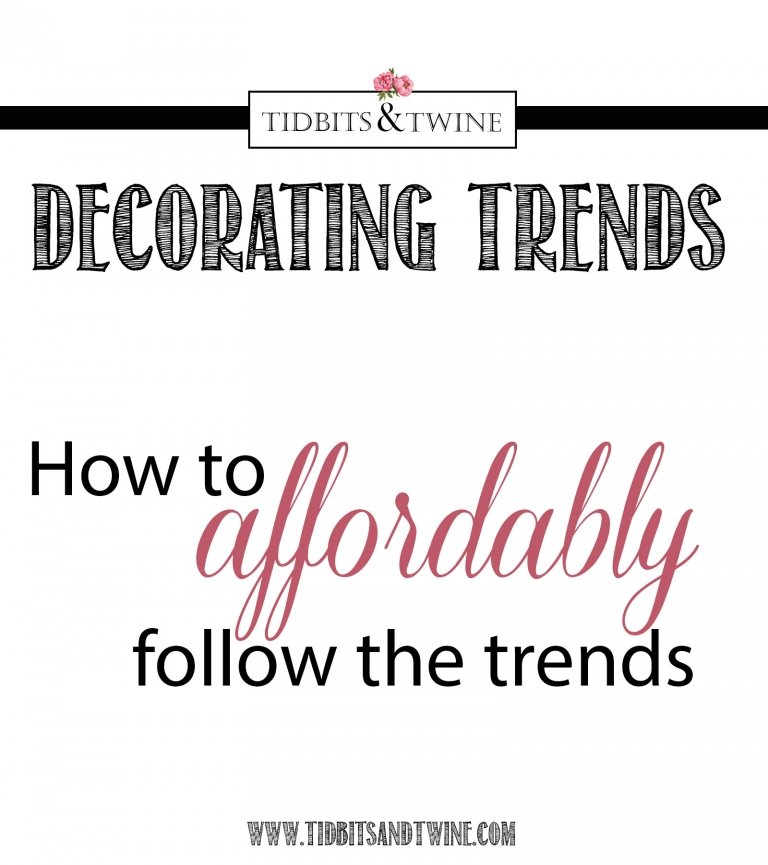 Following Decorating Trends: The Good, The Bad, and the Ugly