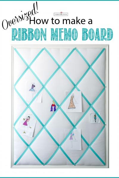 DIY Ribbon Memo Board