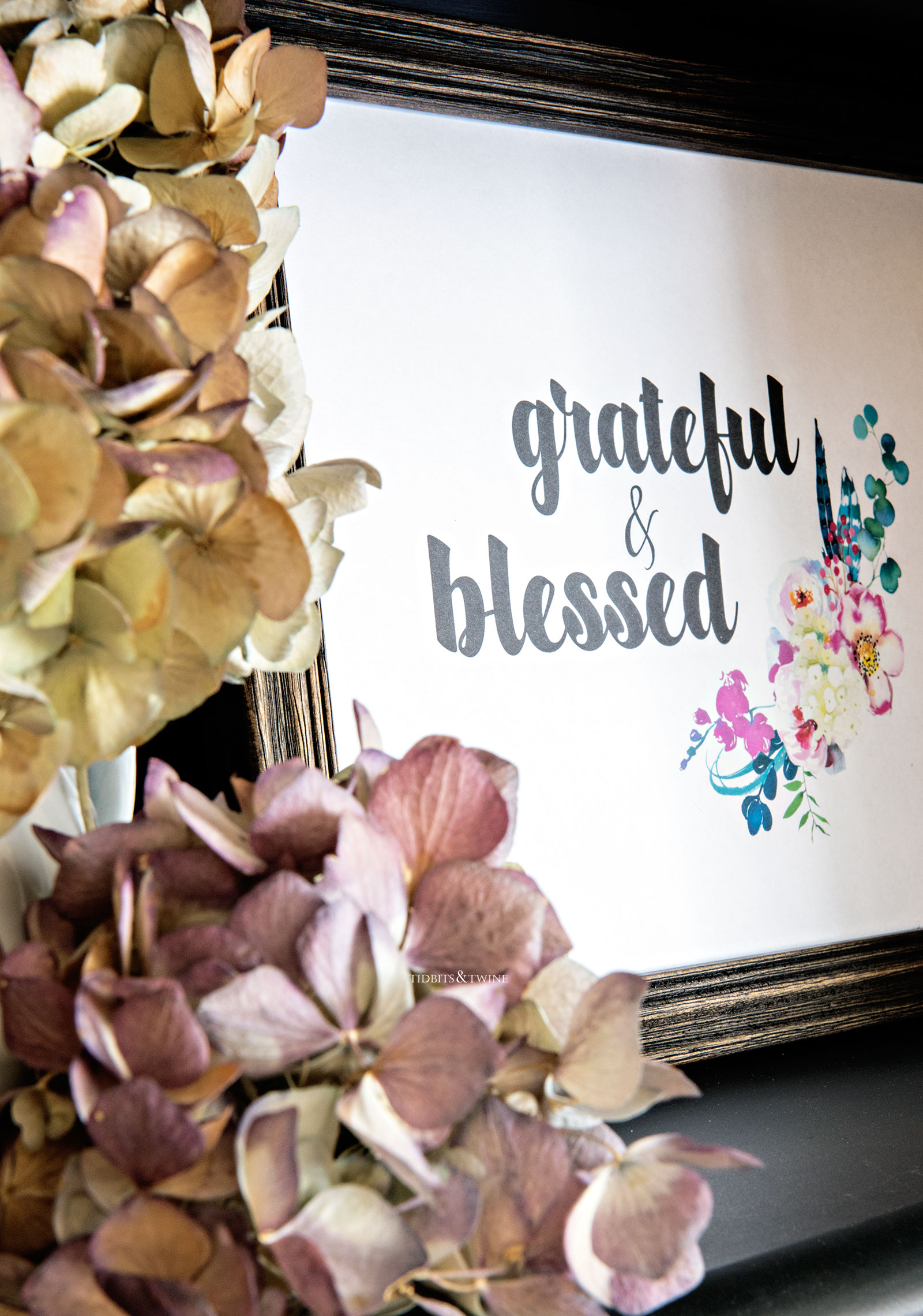 Grateful and blessed free fall printable