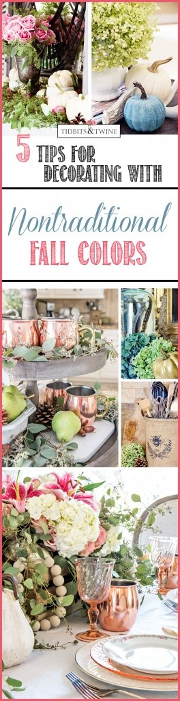 Decorating with Nontraditional Fall Colors