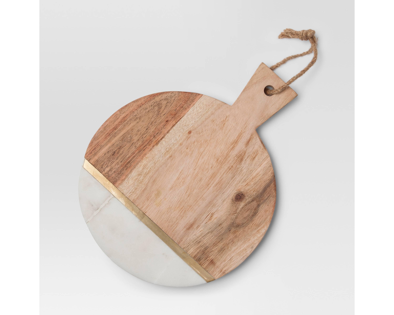Tidbits Twine Wood And Marble Cutting Board
