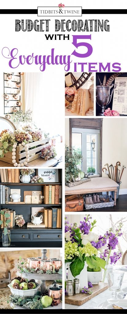 Decorating on a budget with 5 everyday items