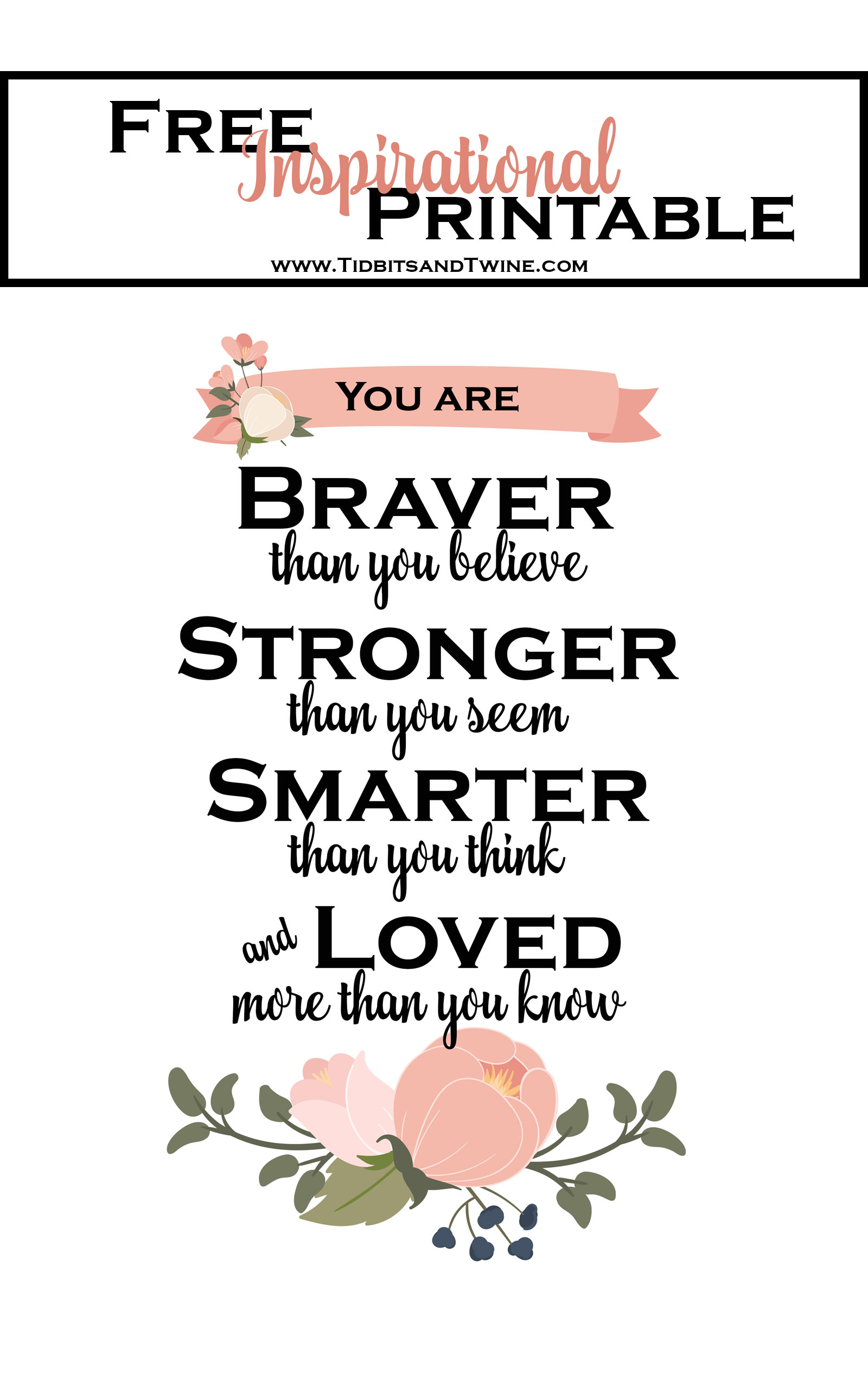 It is a graphic of Old Fashioned Free Inspirational Printables