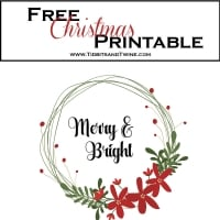 Free Merry & Bright Christmas Printable