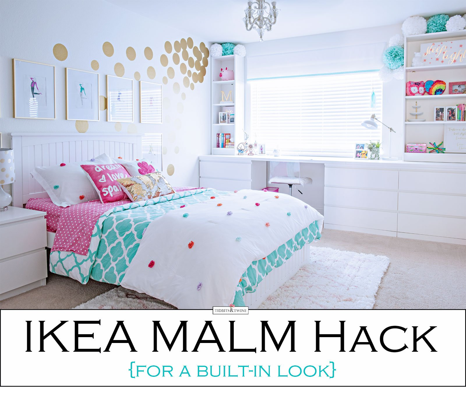 ikea hack for a built in look tidbits twine. Black Bedroom Furniture Sets. Home Design Ideas