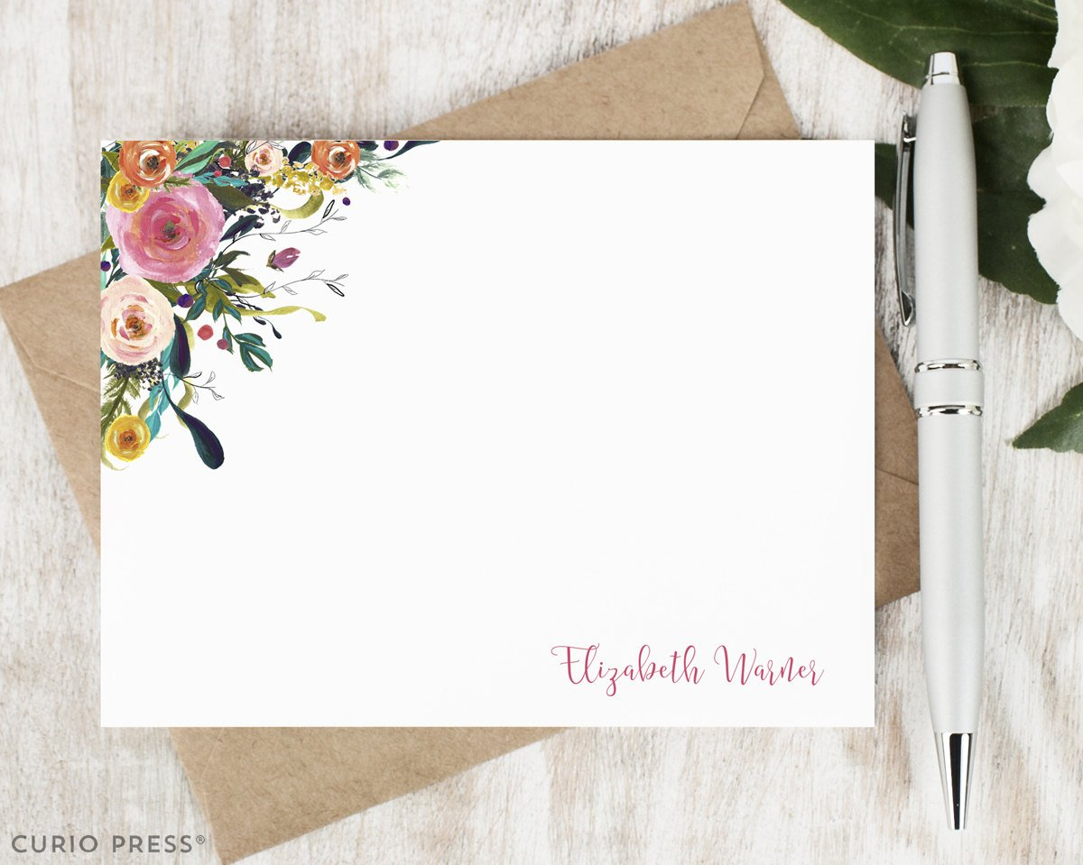 CurioPress Personalized Stationery