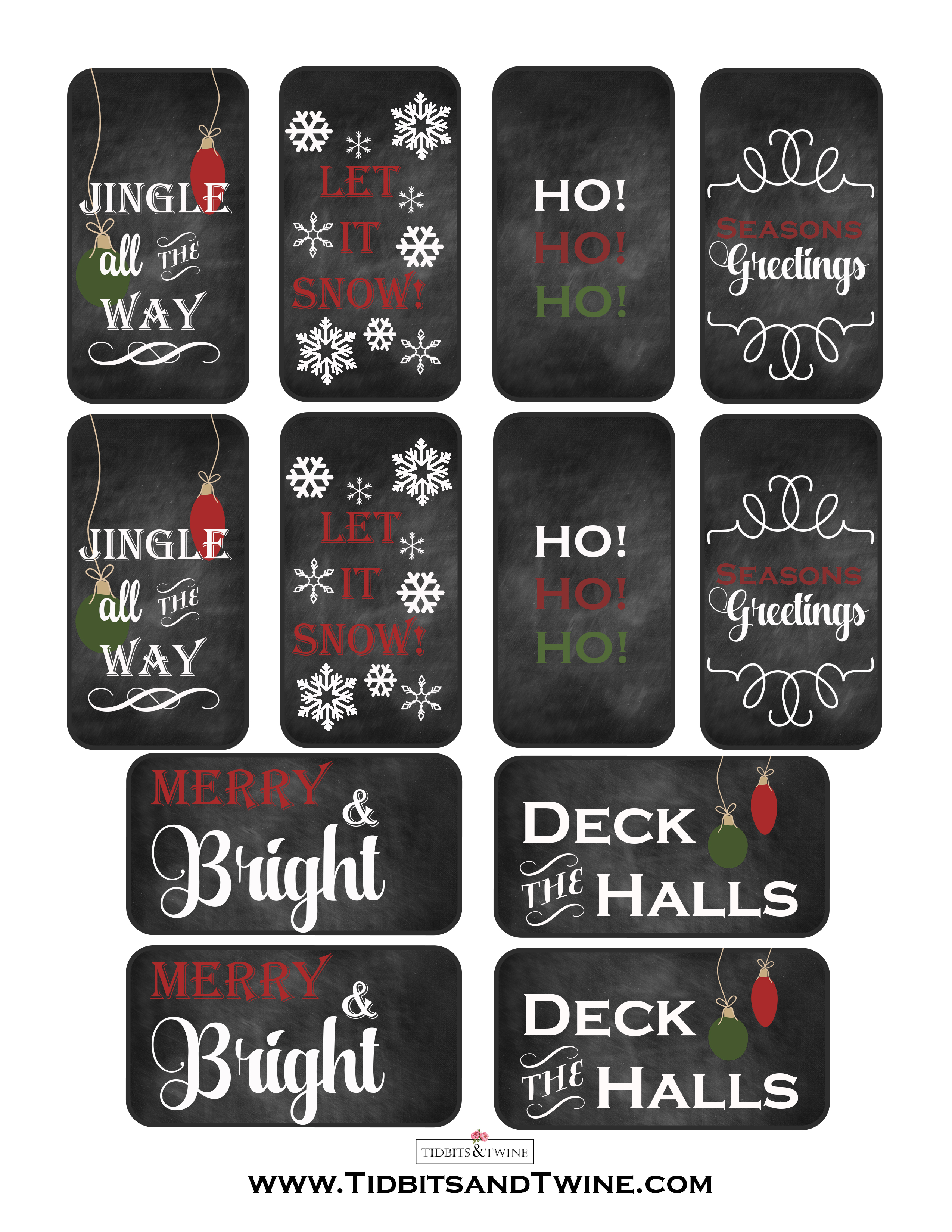 Free Printable Christmas Gift Tags - TIDBITS&TWINE