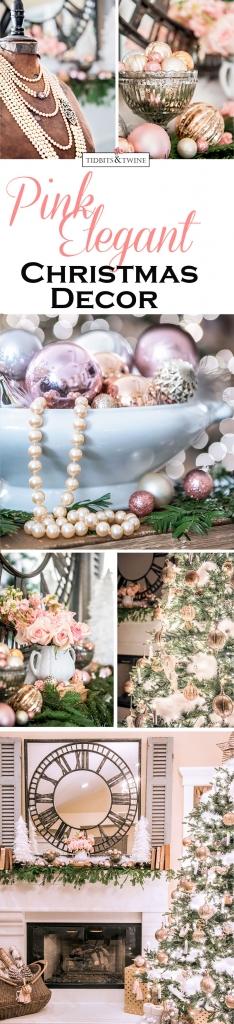 Tidbits&Twine Pink Elegant Christmas Bedroom