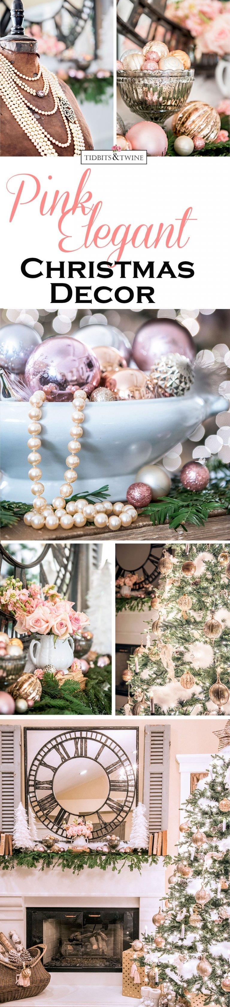 Tidbits&Twine – A Peaceful Pink Christmas Bedroom