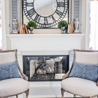 Antique chair French style makeover with chalk paint