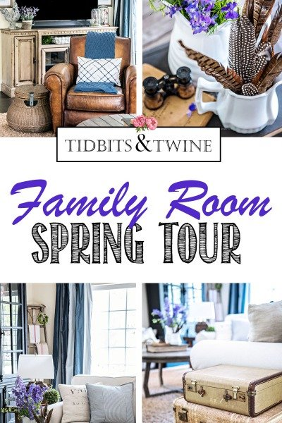Spring Home French Farmhouse Tour Family Room Tidbits&Twine