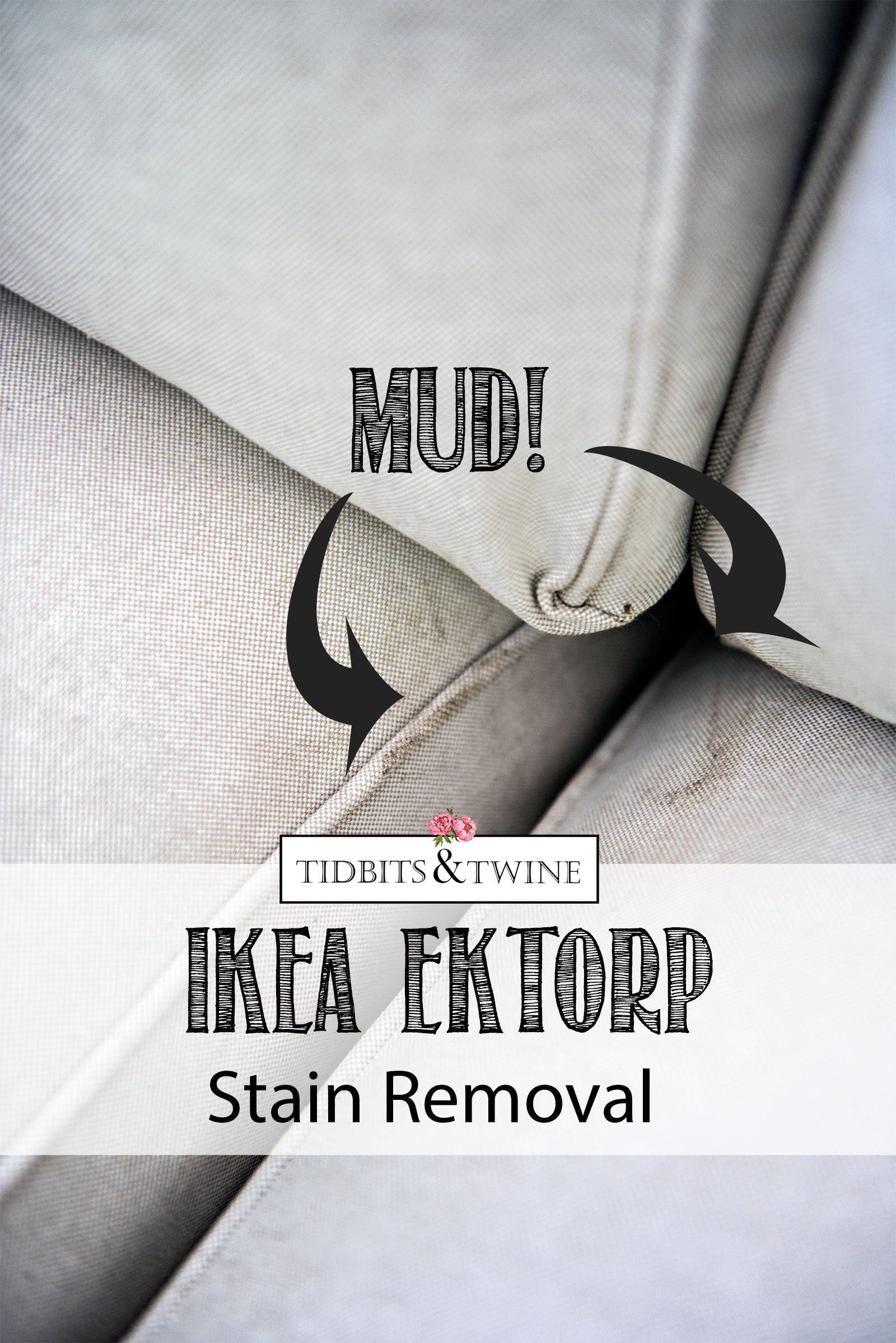 How to remove stains from IKEA EKTORP sofa sectional